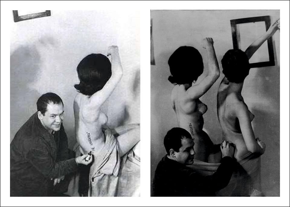 Пьеро Манцони создает живые скульптуры.