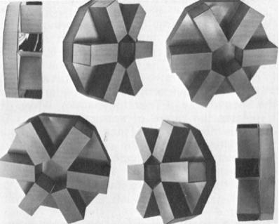 """Роберт Смитмон, Криосферы, 1966 Крашеная сталь с хромированными деталями 6 модулей, 17 x 17 x 6"""""""