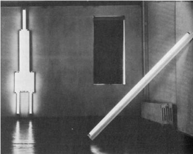 Дэн Флавин, Монумент 1 В. Татлину Ноябрь, 1964