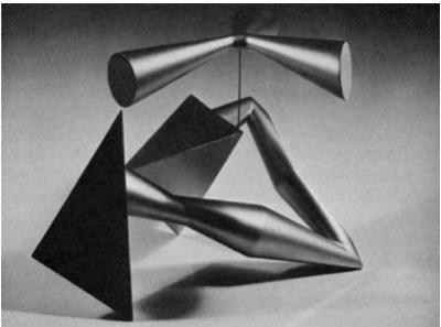 "Форрест Майерс, Е/3, 1965 Алюминий, лак 16 х 16 х 16"""
